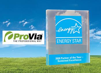 ProVia Energy Star Award Winner